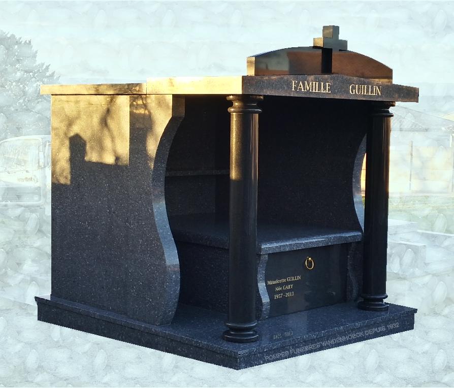 mounument chapelle granit Tarn foncé noir Afrique