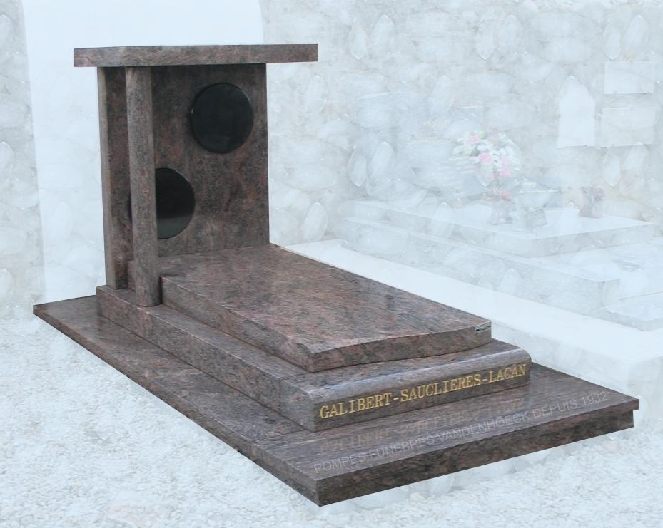 colunbarium sur stèle granit bois de rose montpeyroux