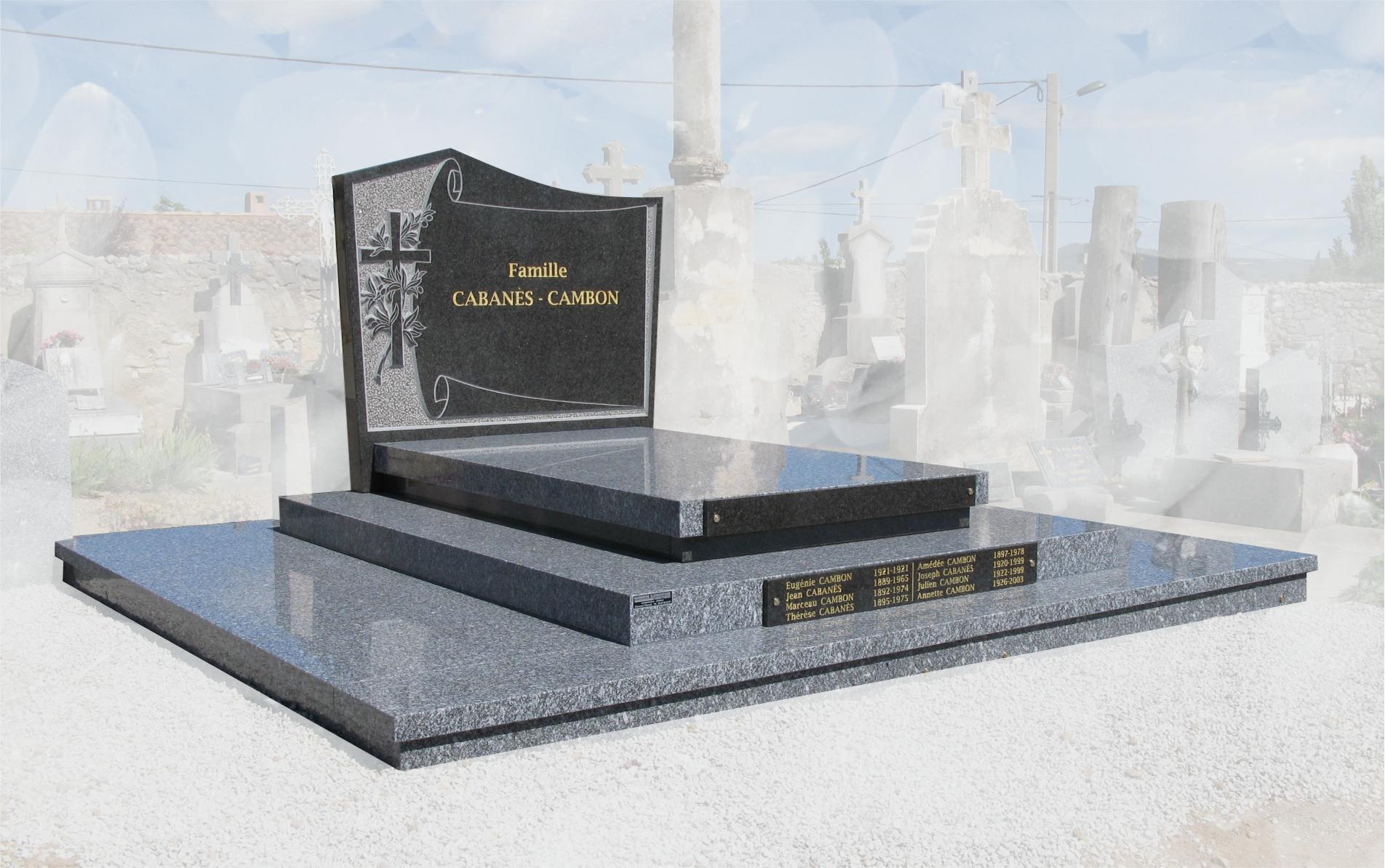 monument funéraire tarn foncé