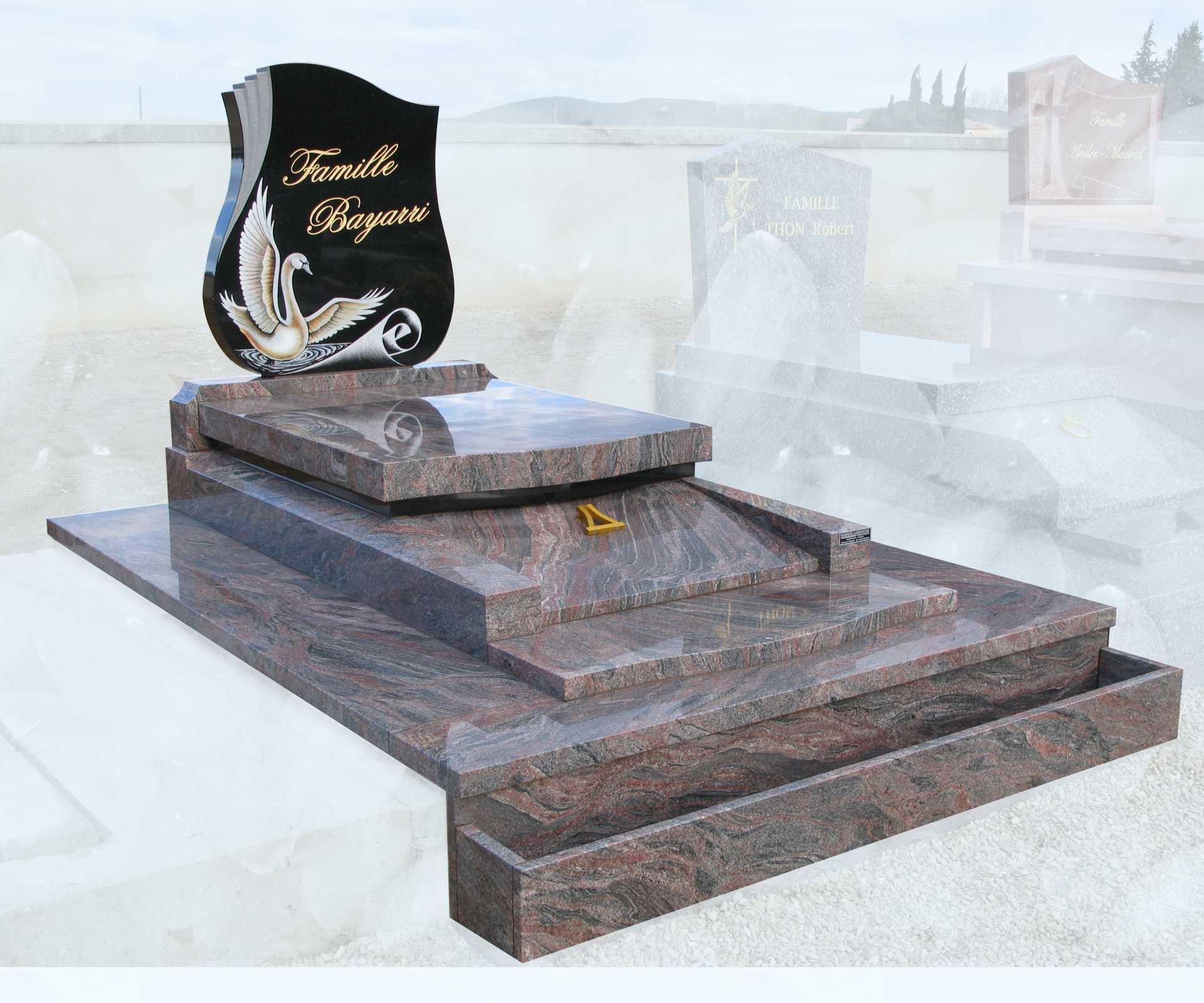 Nos monuments pierre tombale à porte