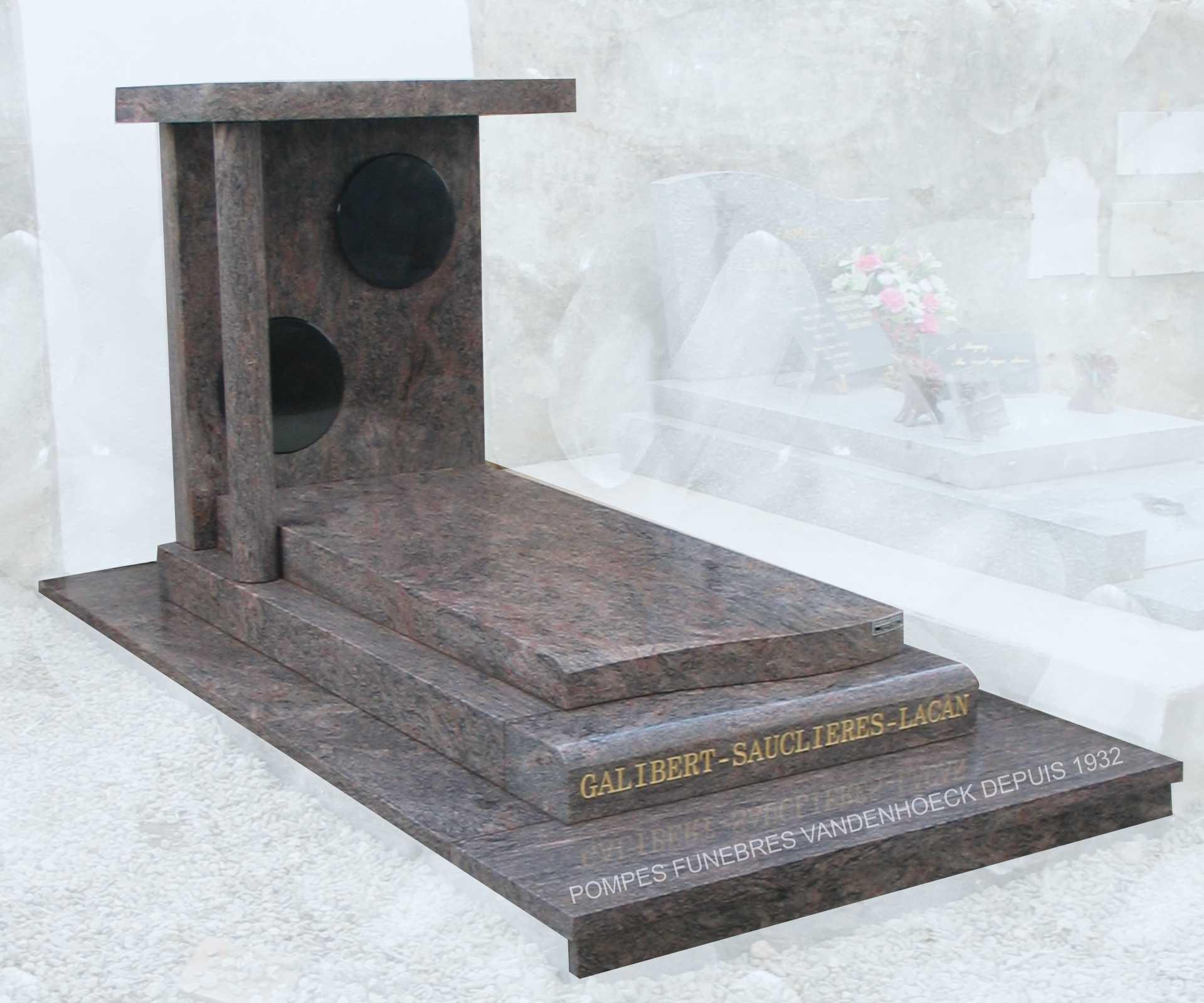 Nos monuments pierre tombale crémation