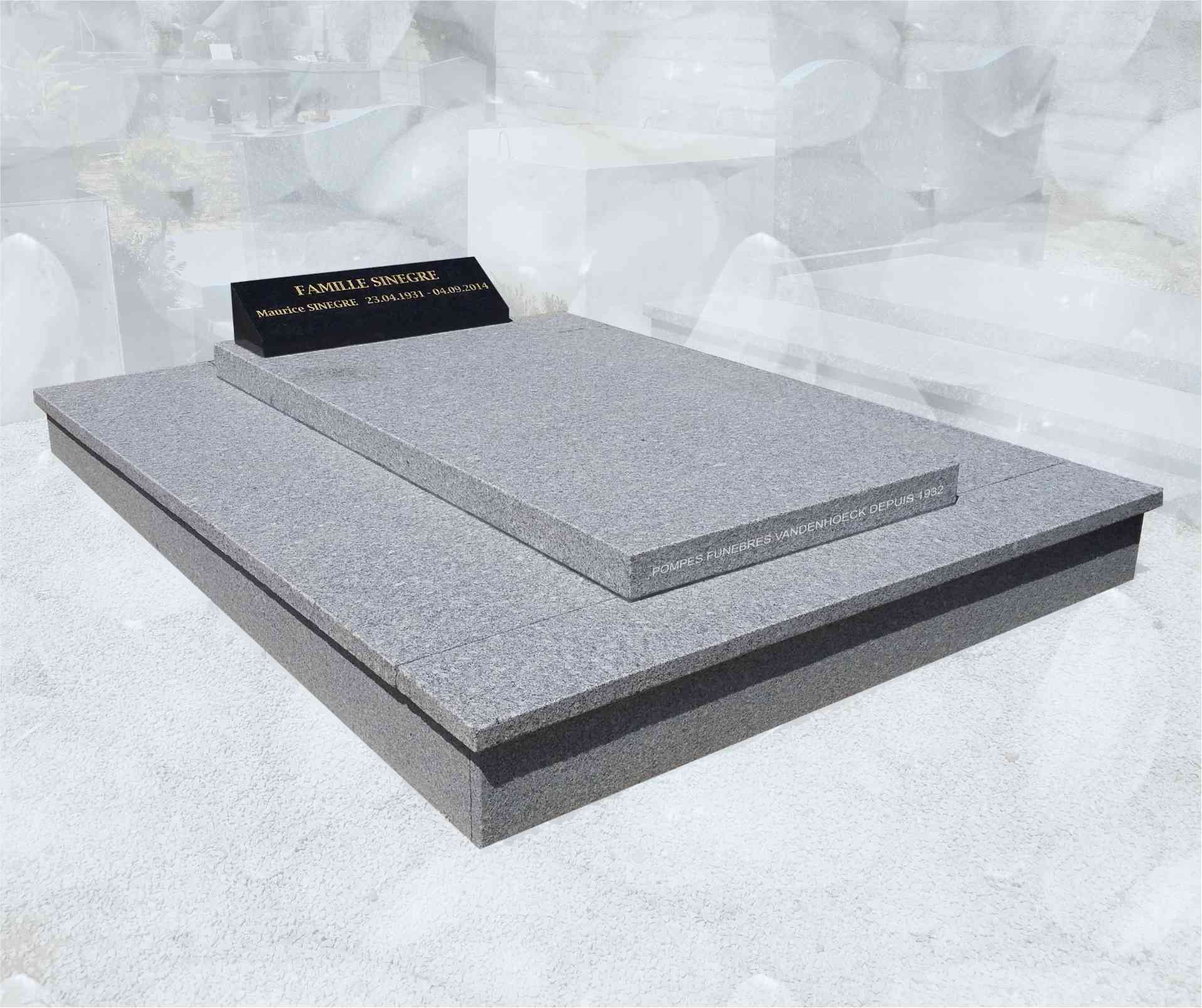 pierre tombale monument funeraire granit du tarn flammé viols le fort