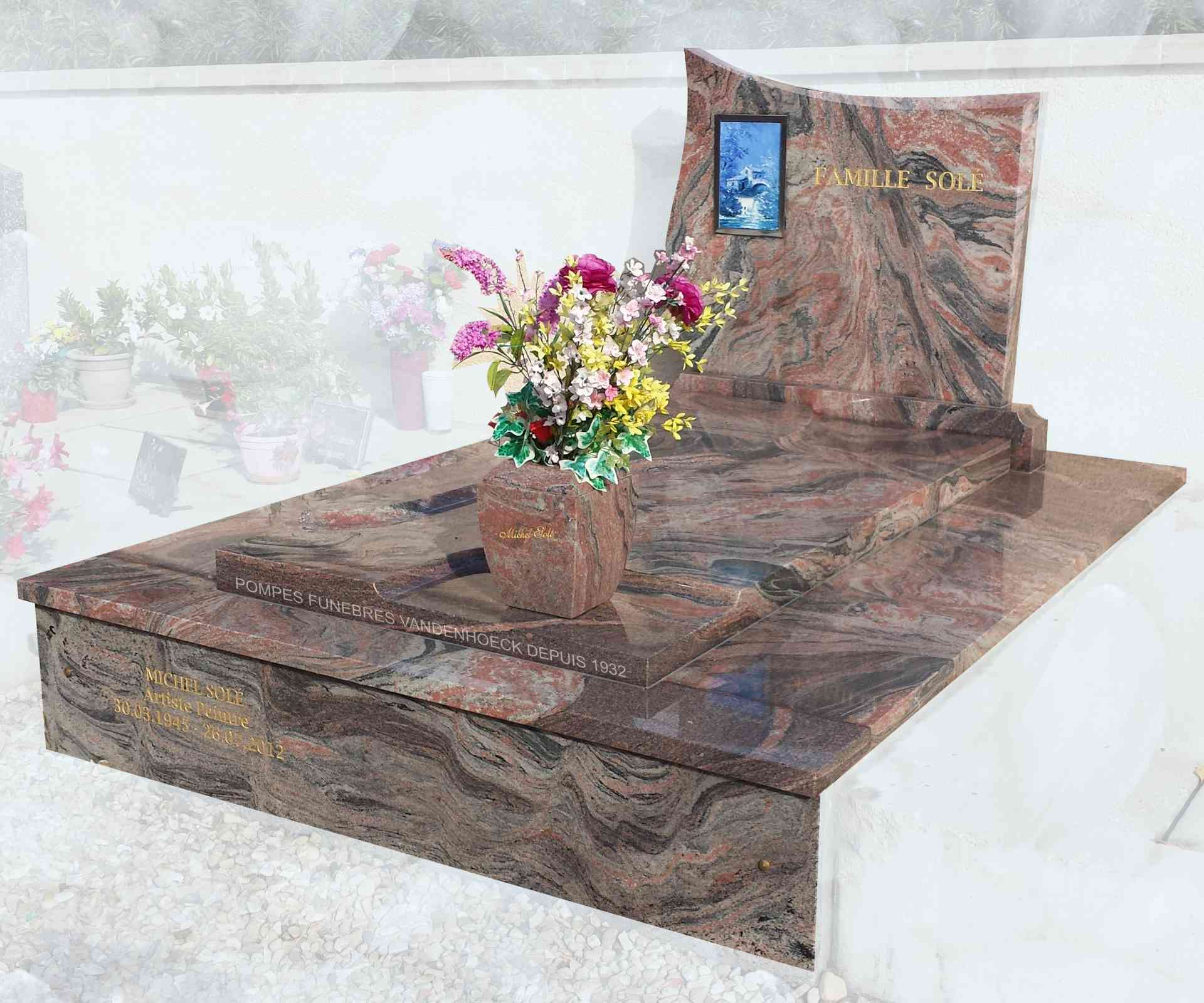 pierre tombale momument granit kynawa