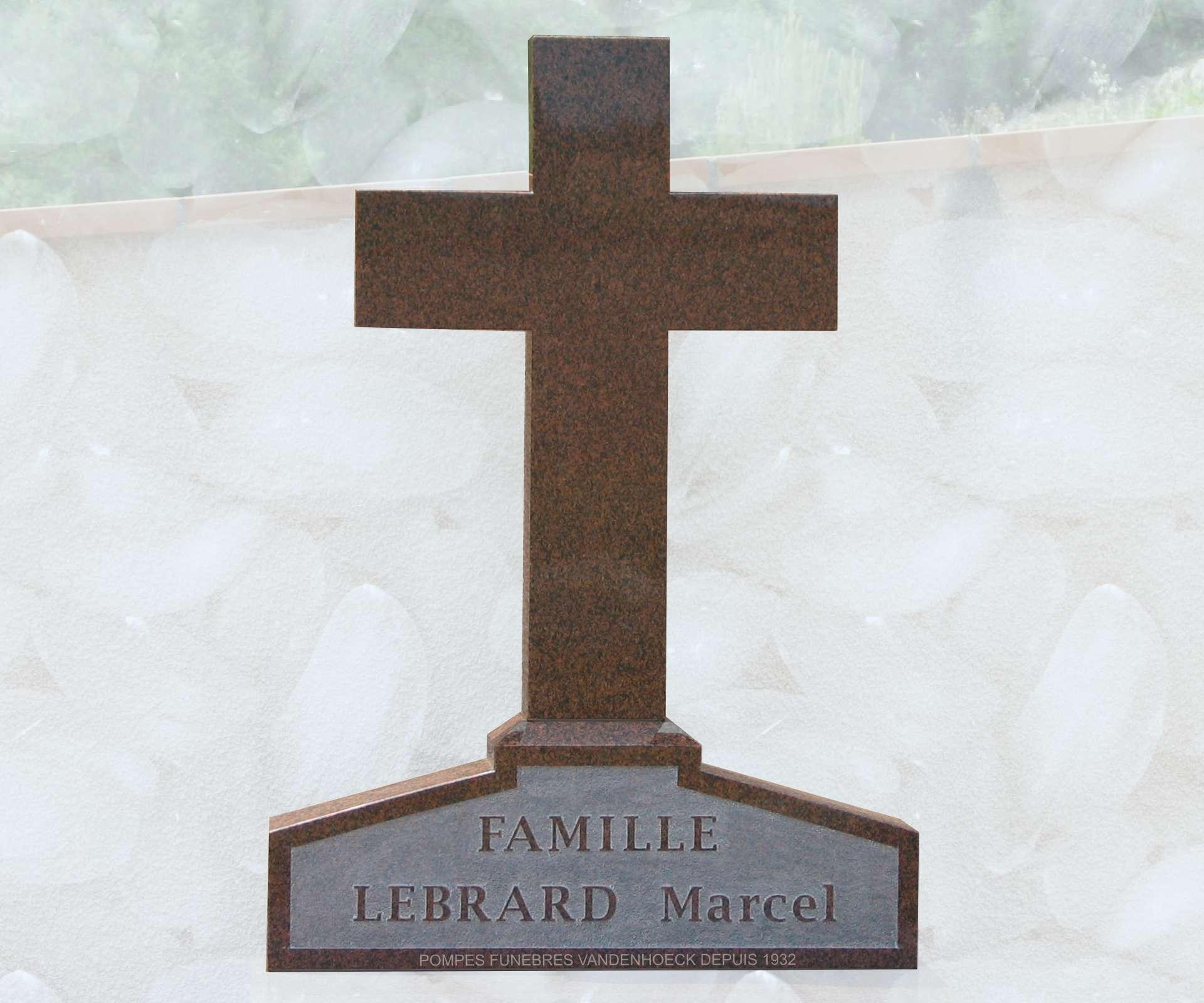 stèle granit muliticolor saint jean de fos