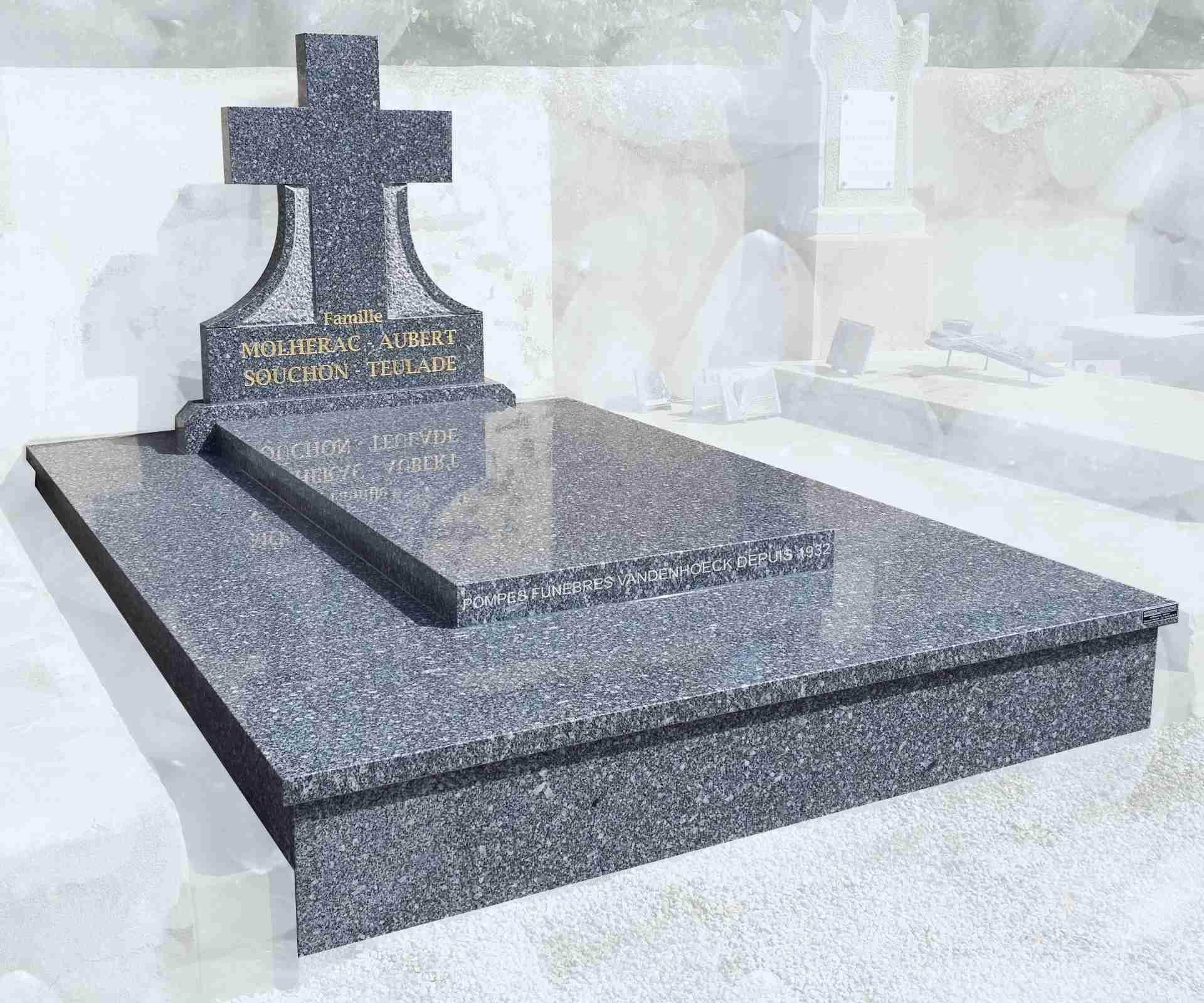 monument funéraire en granit TARN FONCE