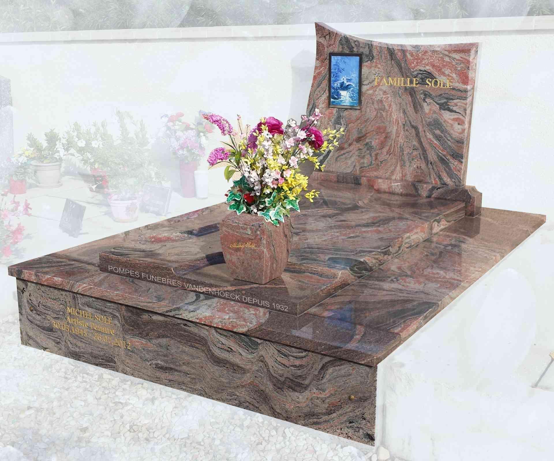 monument funéraire en granit TIFFANY